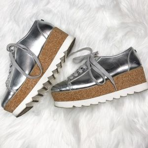 Steve Madden   Knightly Silver Platform Sneaker 8